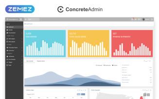 ConcreteAdmin - Clean Dashboard