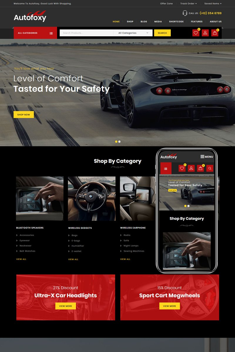 Autofoxy - Auto Parts Store WooCommerce Theme