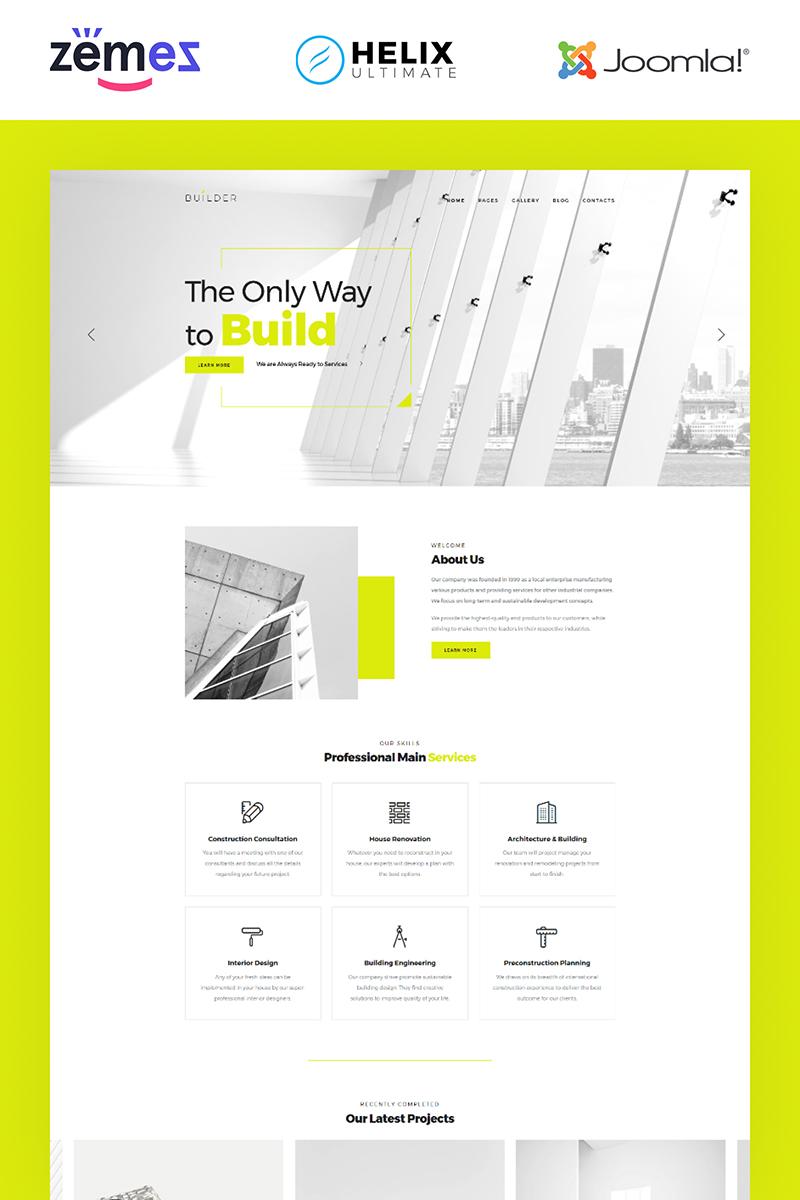 """""""Builder - Construction Company Multipage Corporate"""" thème Joomla adaptatif #84735"""