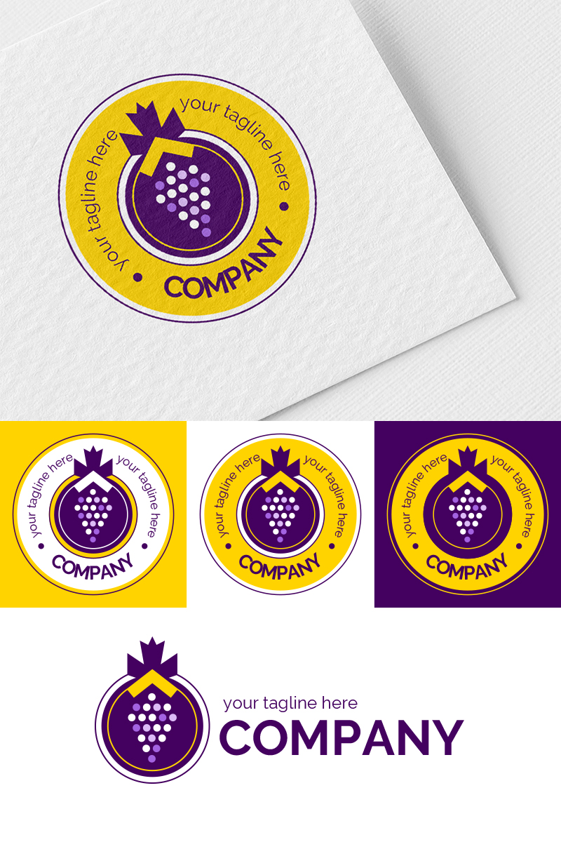 Bunch of Grapes Logo Template