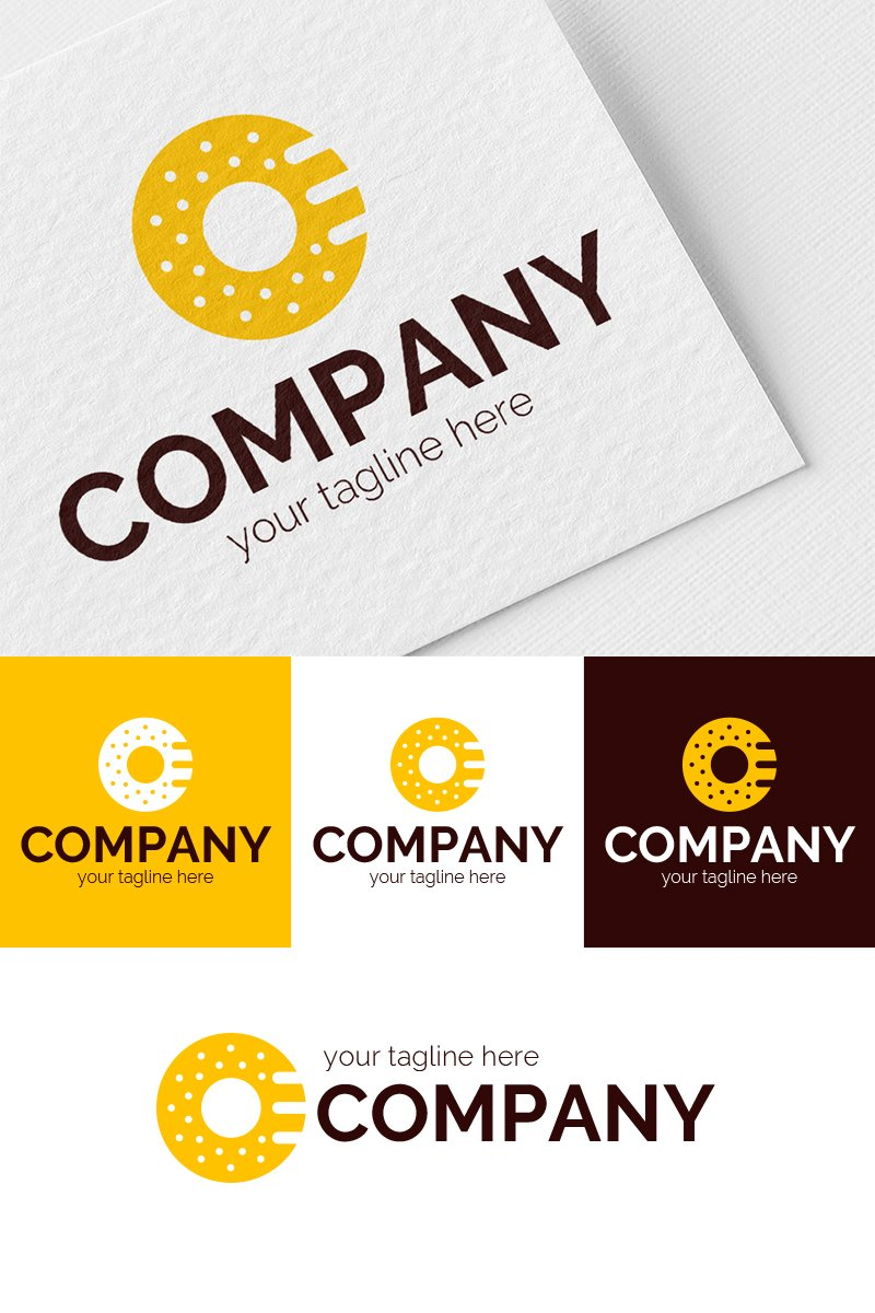 Donut and Microphone Logo Template