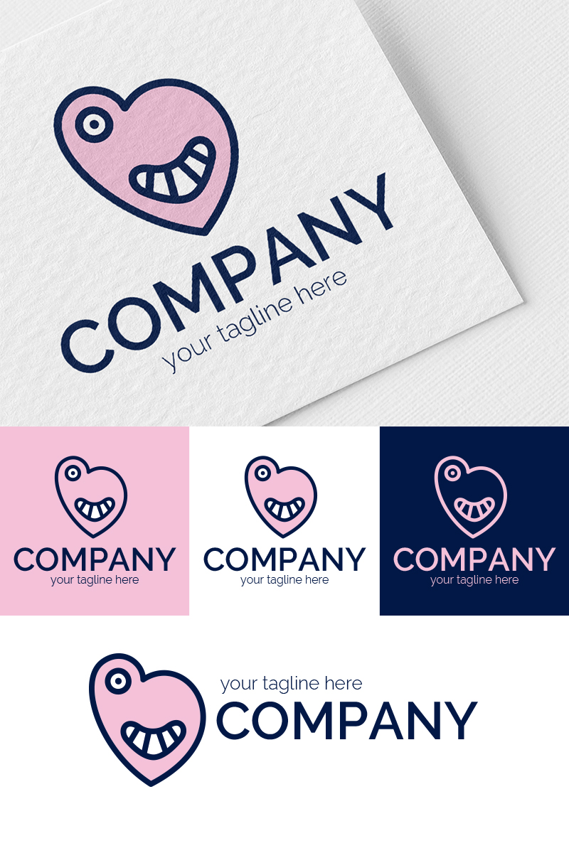 Funny Monsters Logo Template