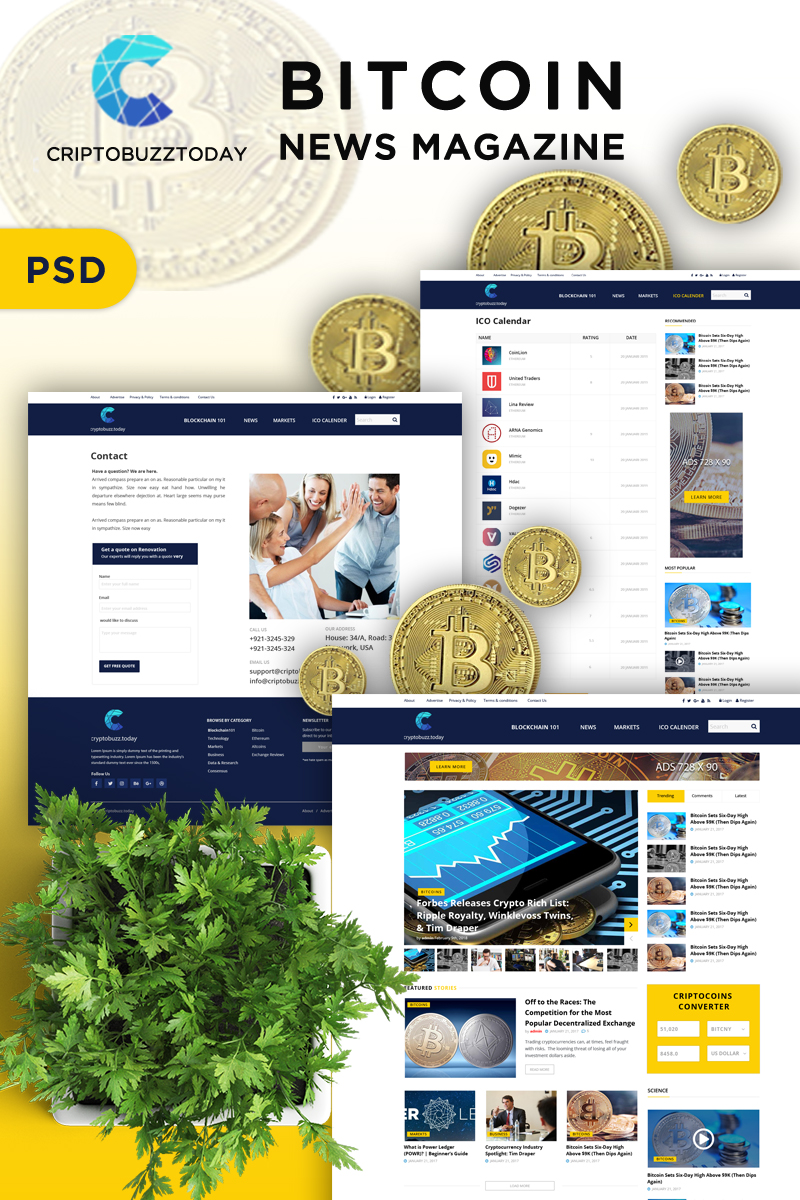 News Magazine Bitcoins Psd #84701
