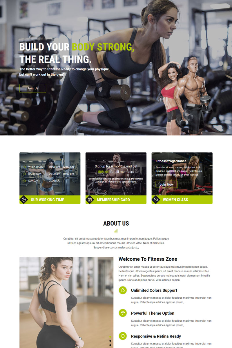 """Plantilla Muse """"Fitness Zone - Gym And Fitness"""" #84787"""