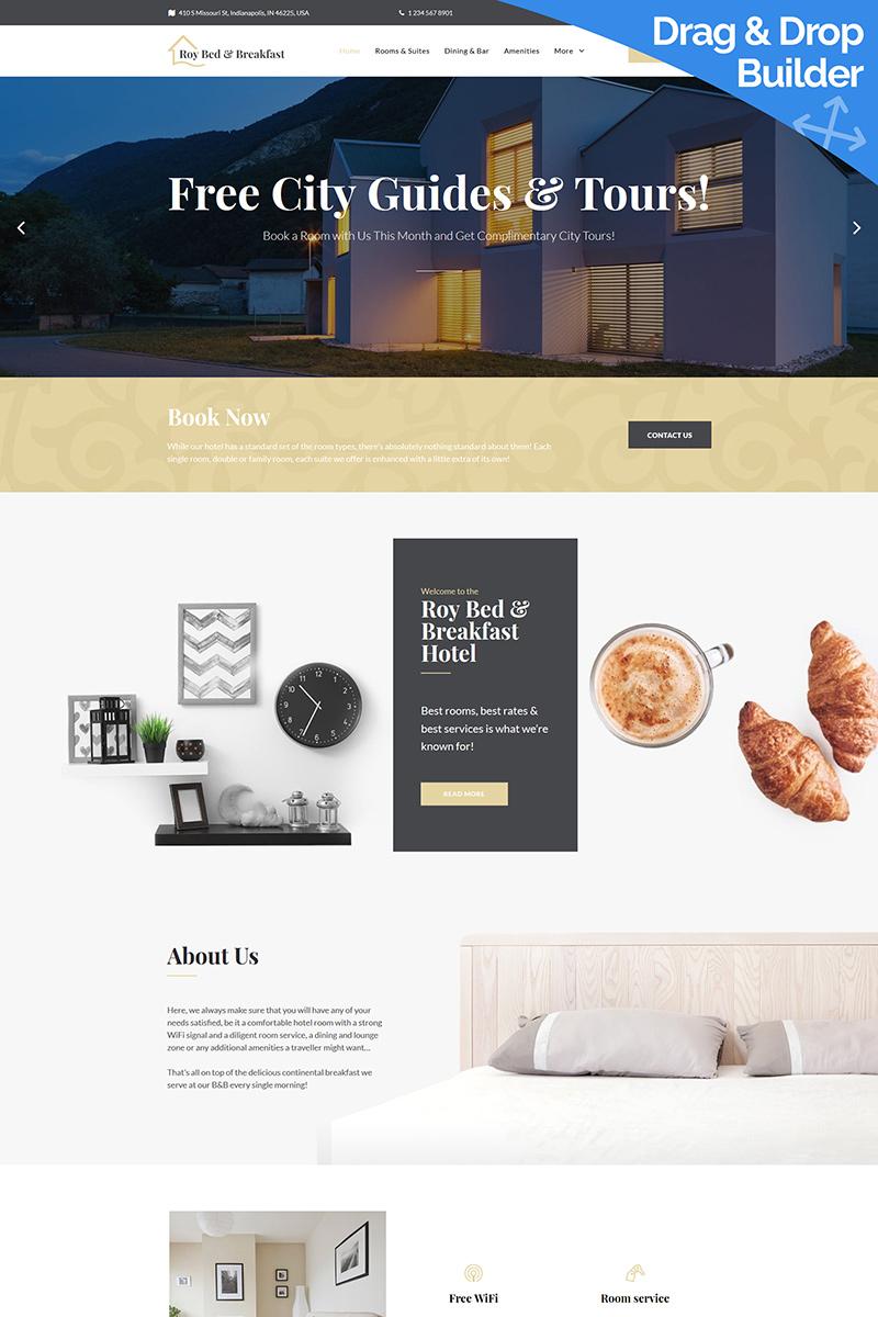 Responsive Roy Bed & Breakfast - Hotel Moto Cms 3 #84742