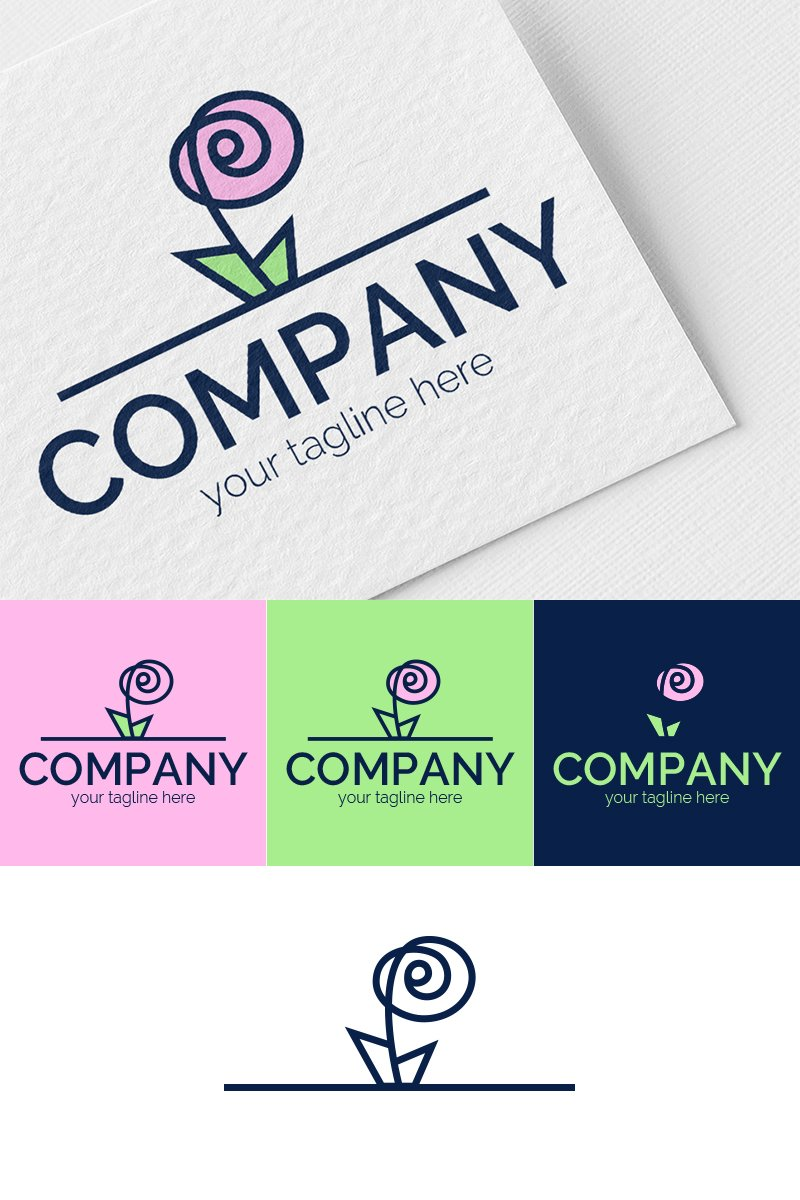 Rose Logo Template