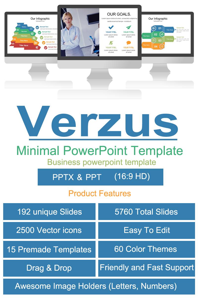 """Verzus Minimal"" modèle PowerPoint Premium #84781"