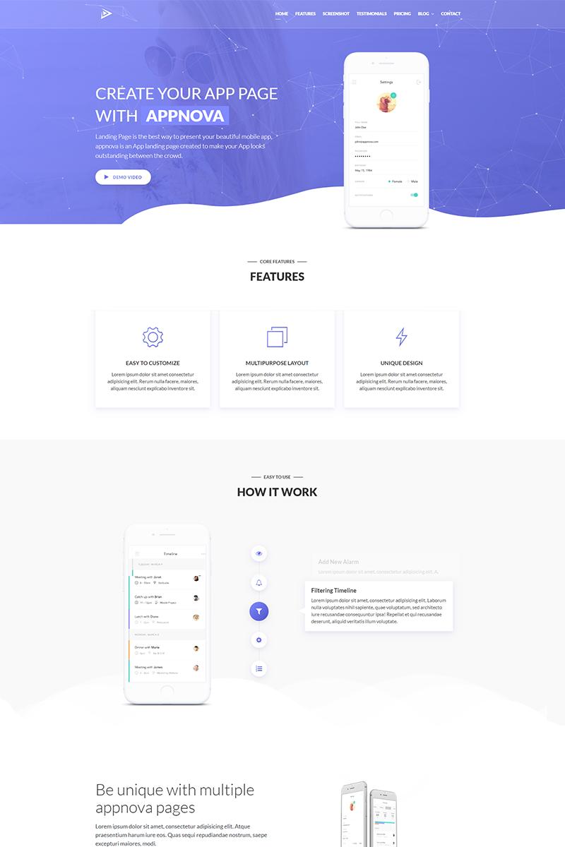 Appnova - App Landing Page Template - screenshot