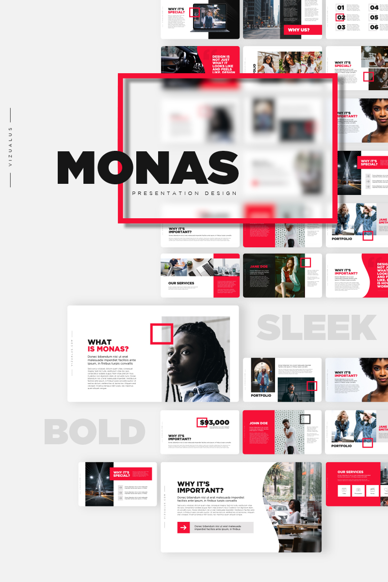 """""""Monas"""" - PowerPoint шаблон №84840"""