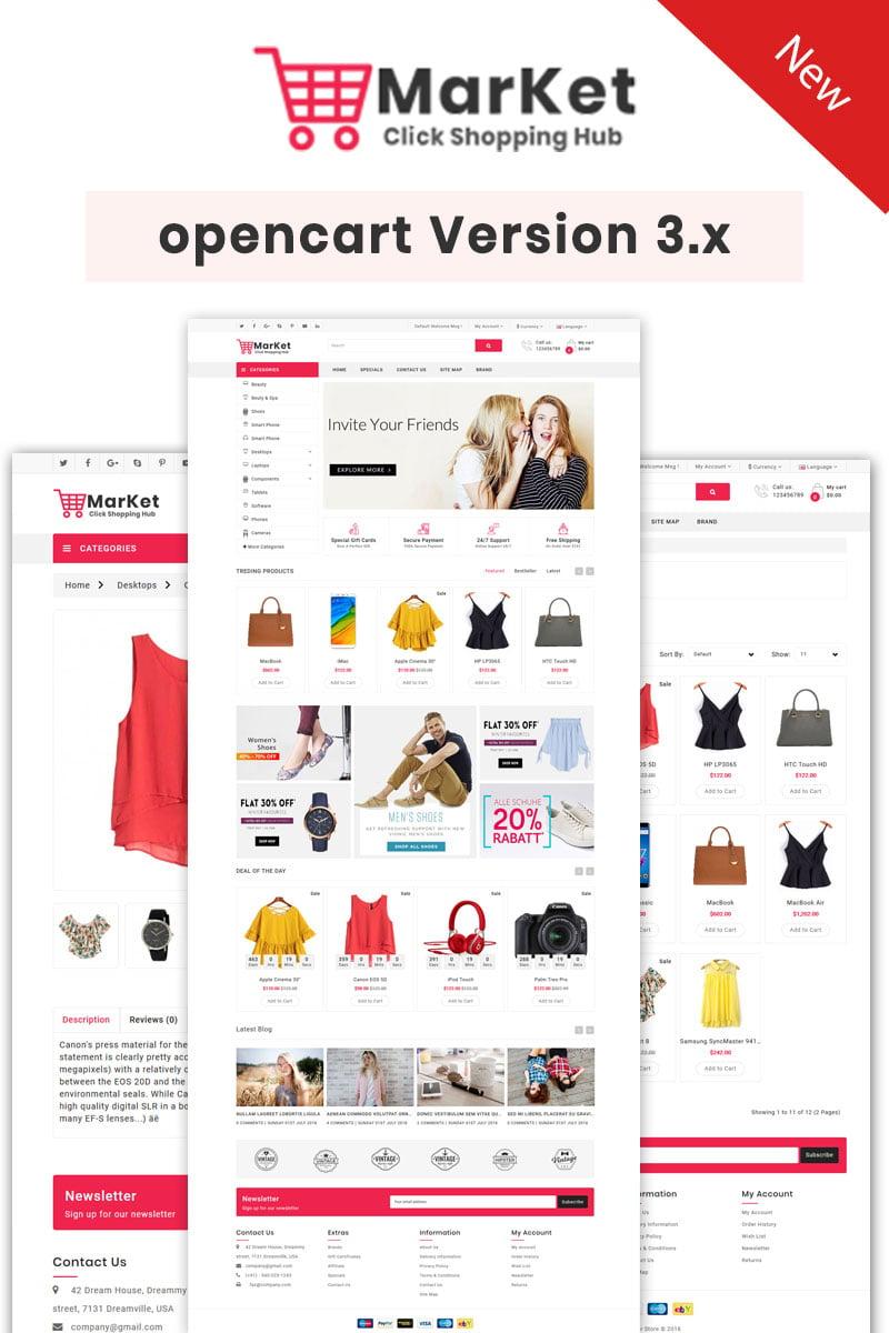 "OpenCart Vorlage namens ""Market  Multipurpose Theme"" #84826"