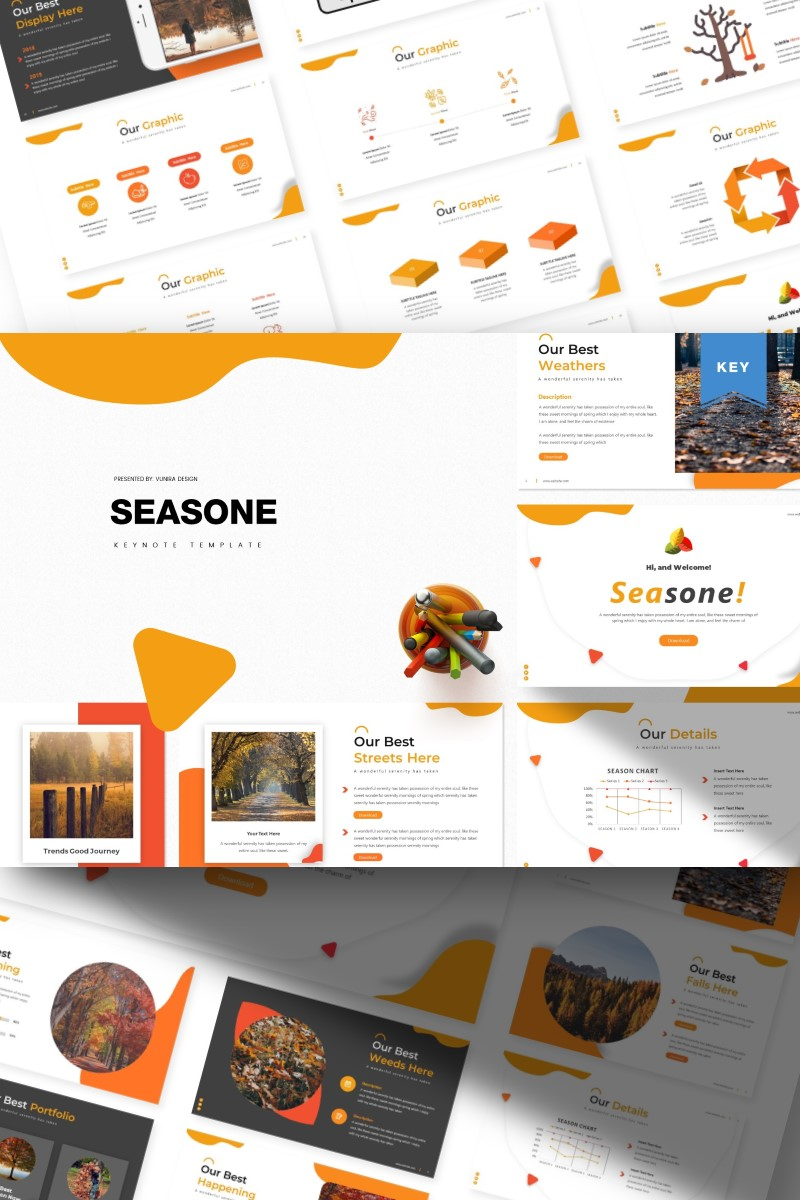 Seasone | Keynote Template #84818 - skärmbild