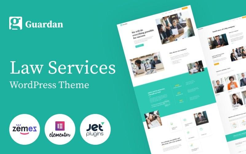 "Template WordPress Responsive #84802 ""Guardan - Law Services Multipurpose Classic Elementor"""