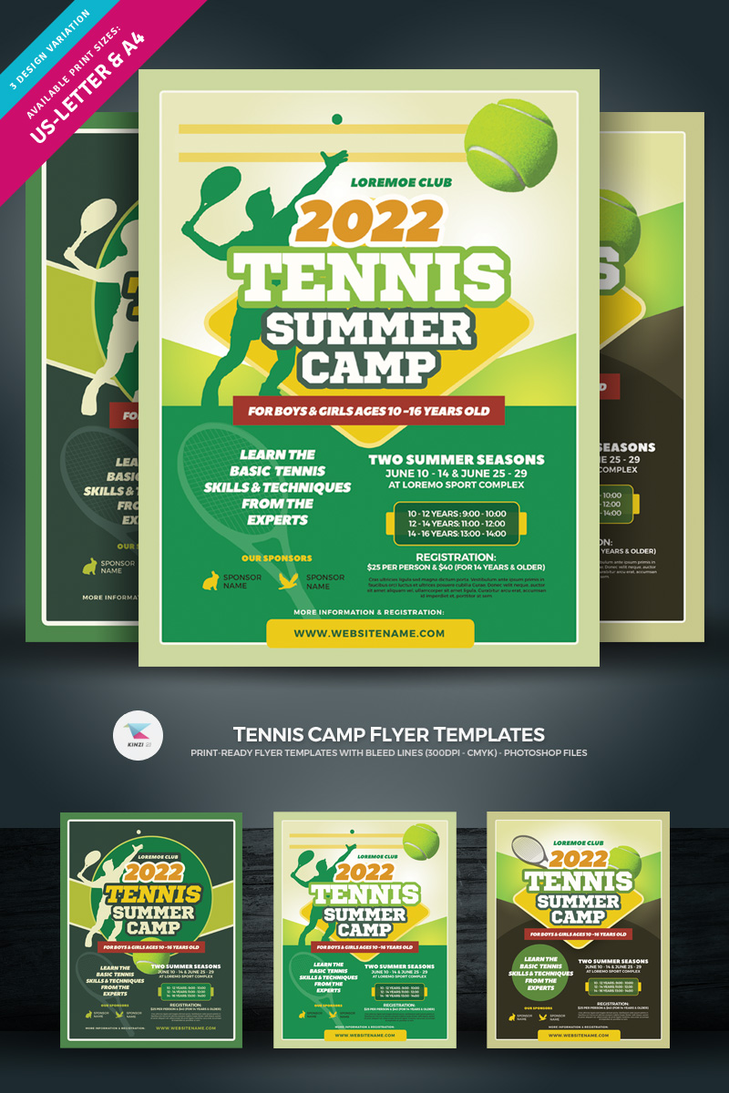 Tennis Camp Flyer Corporate Identity Template