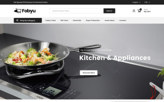 Fobyu - Kitchen Appliances PrestaShop Theme