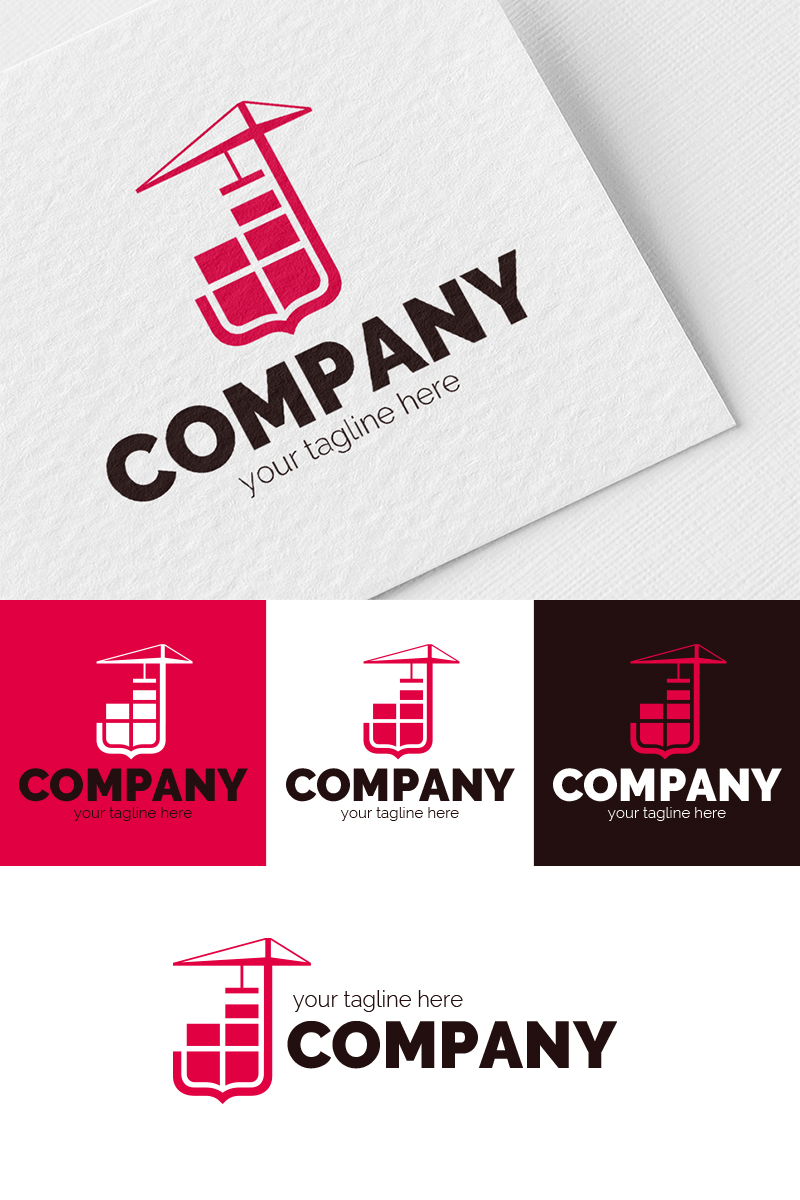 Construction and Coat of Arms Logo Template
