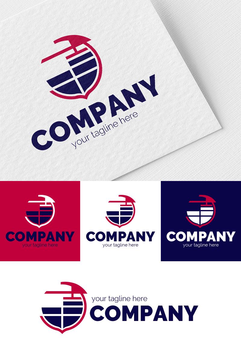 Construction Crane - Coat of Arms Logo Template