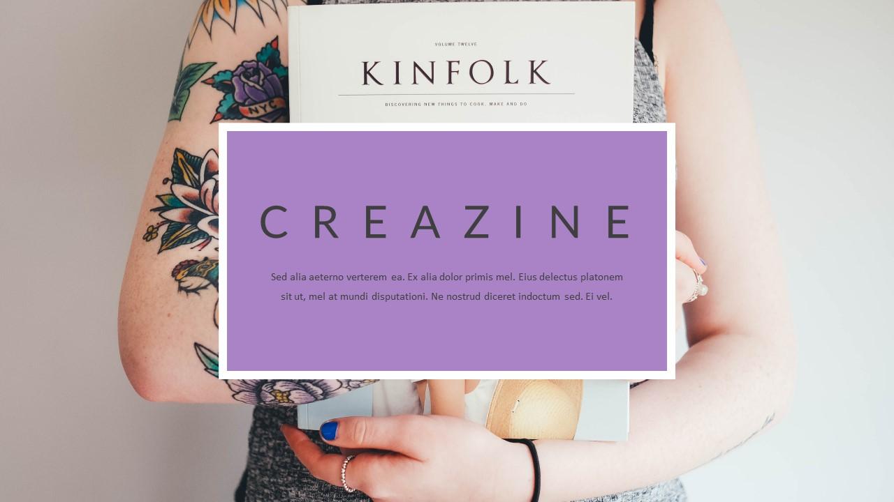 Creazine - Creative Magazine Google Slides - screenshot