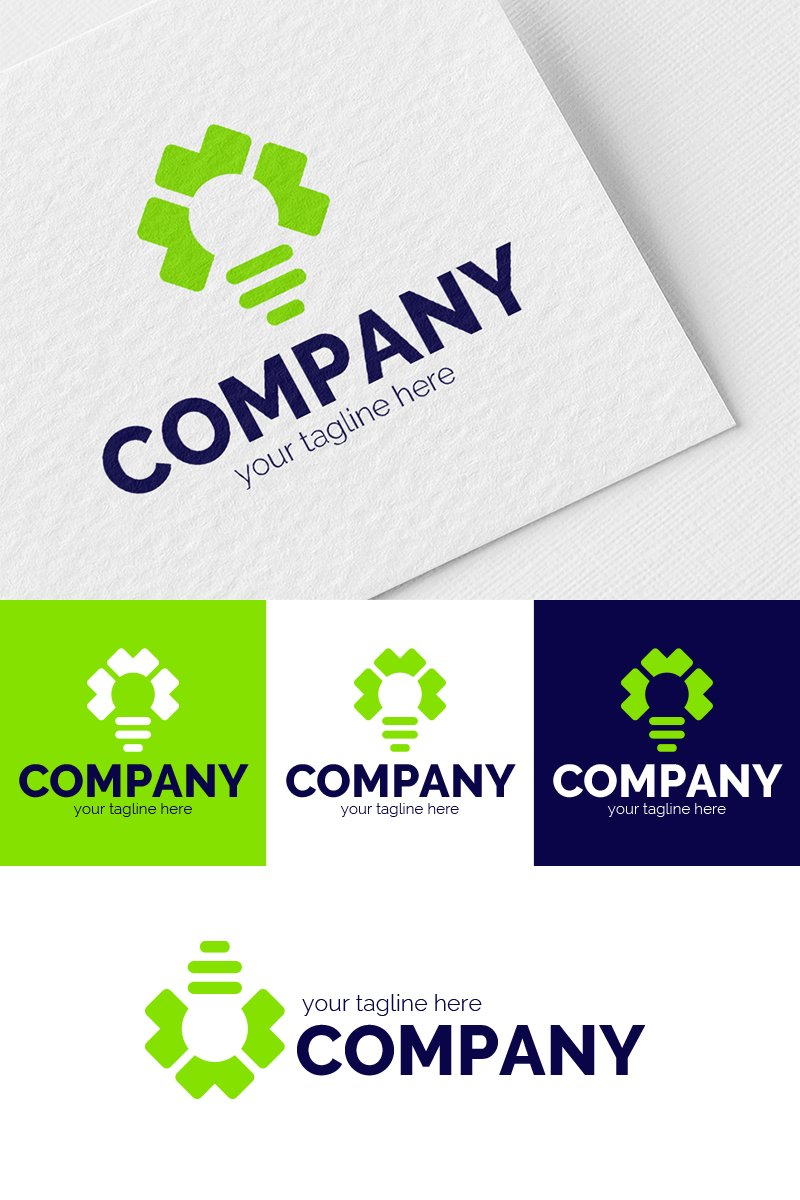 Eco-Light Bulb Logo Template