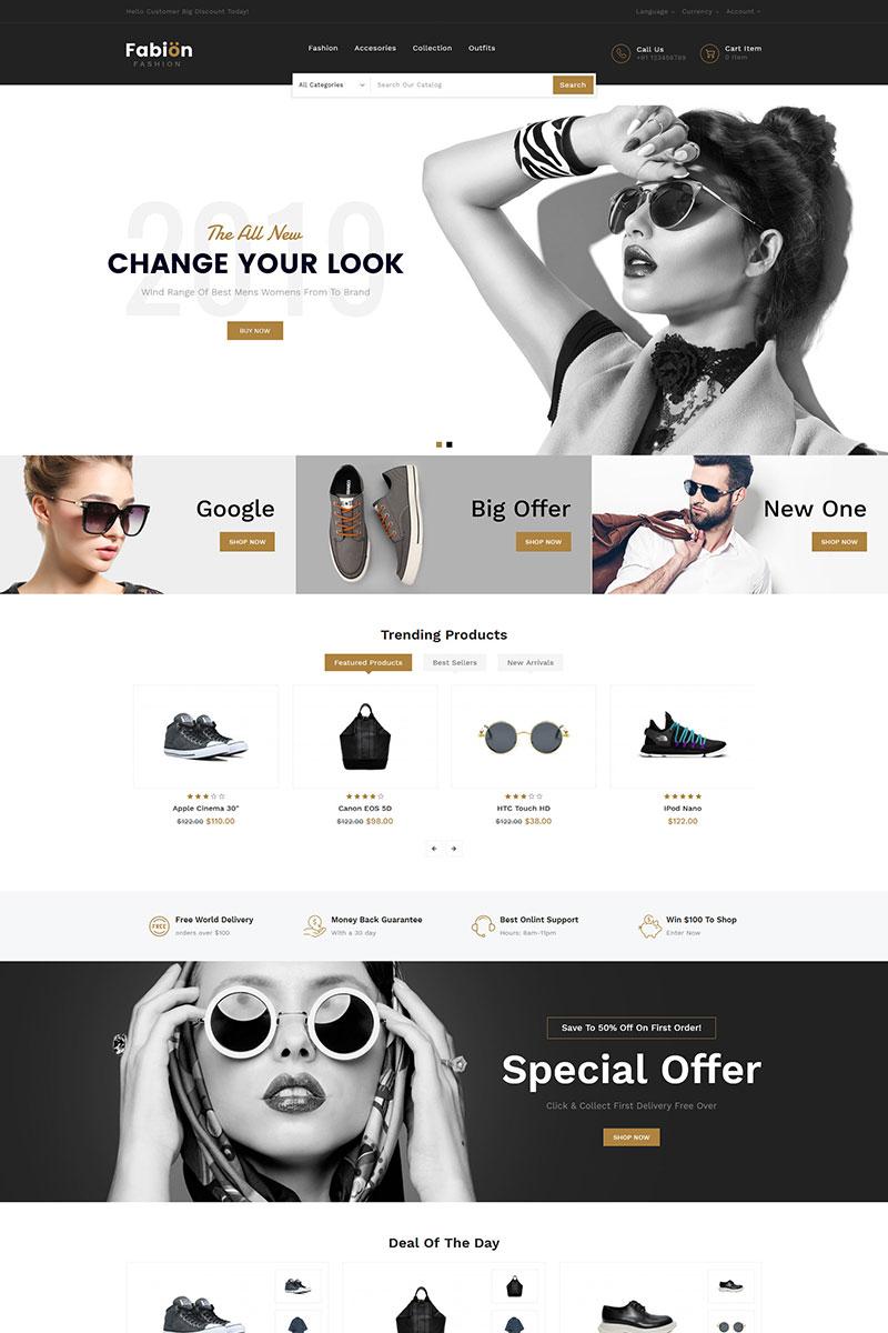 """Fabion Fashion"" Responsive OpenCart Template №84992 - screenshot"