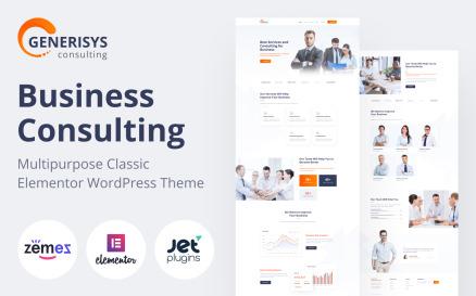 Generisys - Business Consulting Multipurpose Classic WordPress Elementor Theme WordPress Theme