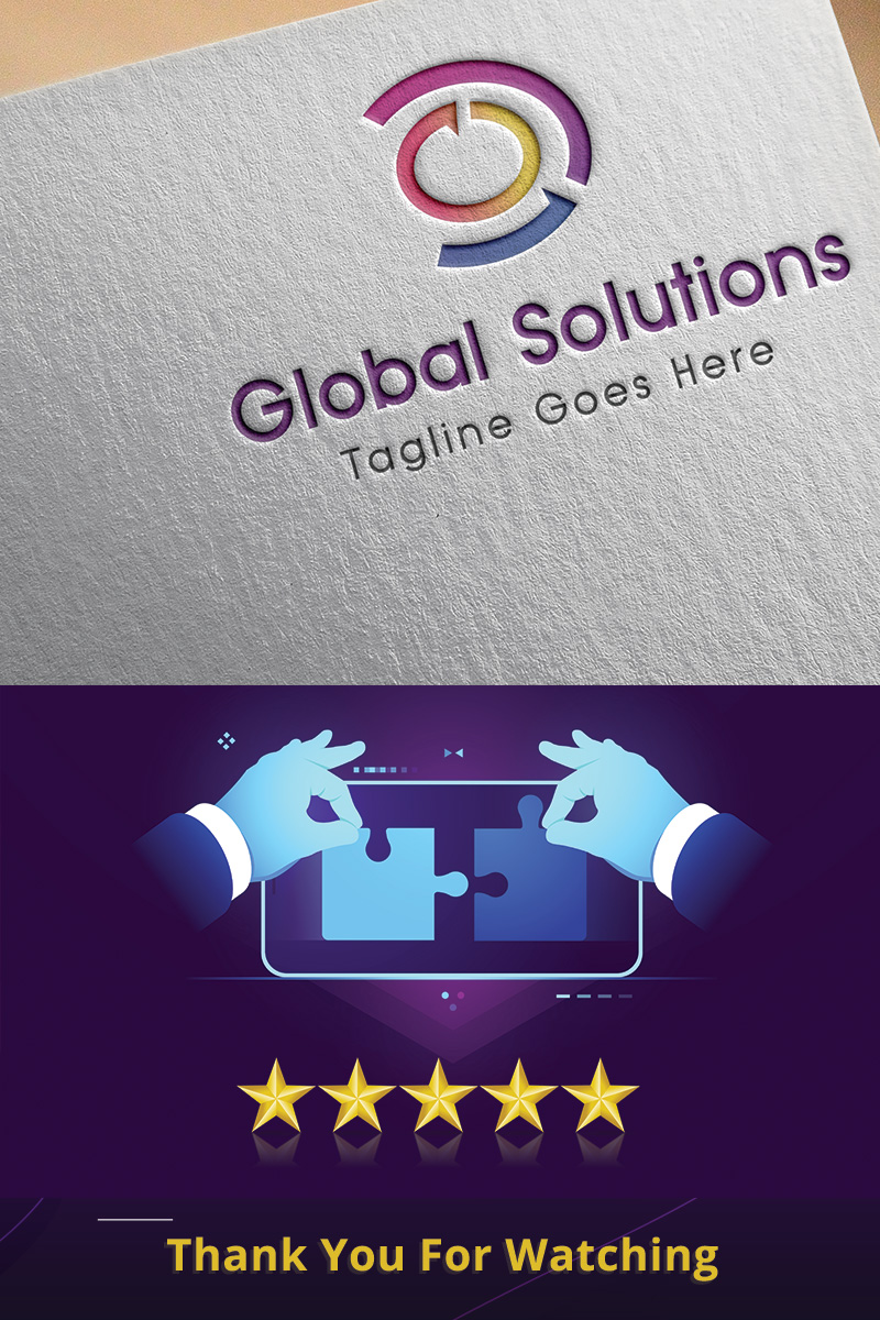 Global Solutions Logo Template