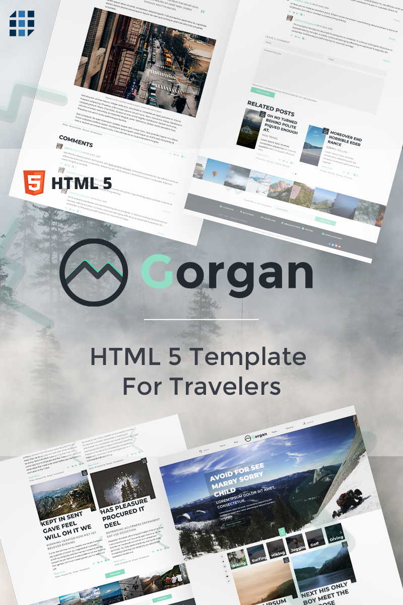 Gorgan - HTML5  For Travelers Website Template