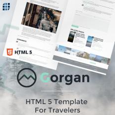 Responsive Website Templates with Vertical Menu - Template