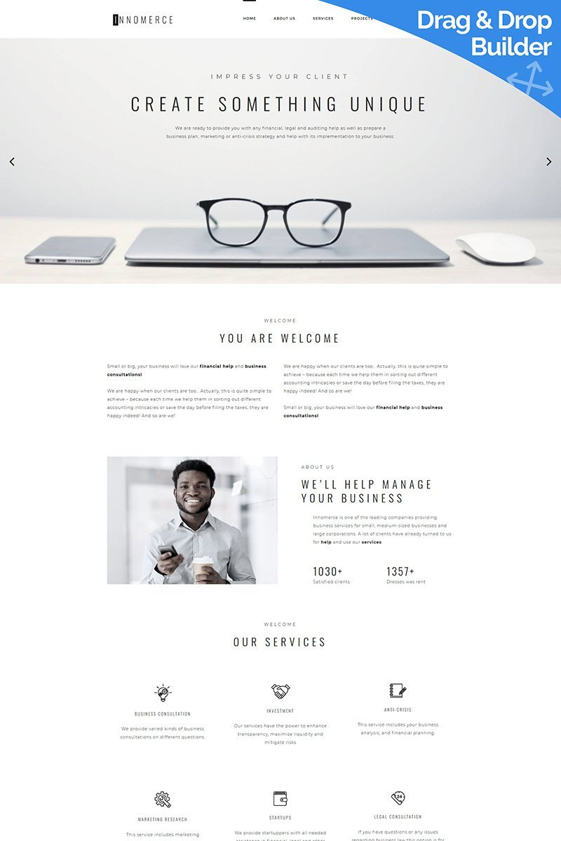 Innomerce - Local Business Moto CMS 3 Template