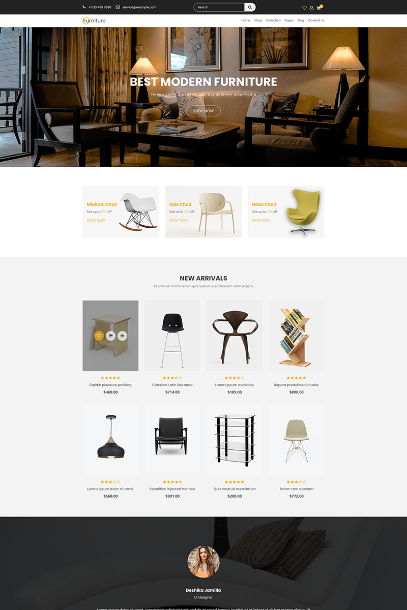 "Modello PSD Responsive #84959 ""Furniture - Creative Multi-Purpose"""