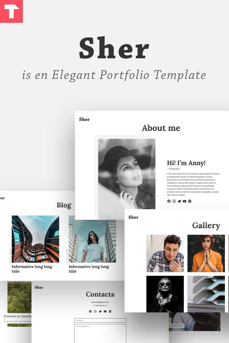 """Sher - Responsive Portfolio"" Responsive Website template №84943"