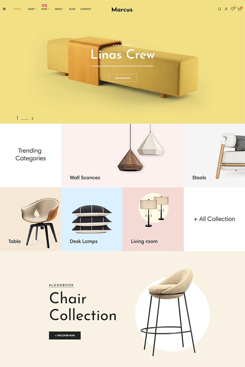 "Tema PrestaShop #84996 ""Marcus - Furniture & Home Decor"""