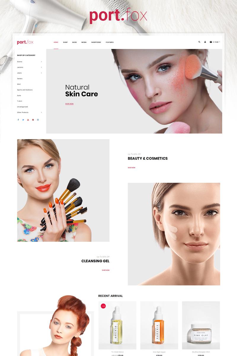 "Tema WooCommerce ""Portfox - Cosmetic Store"" #84993"