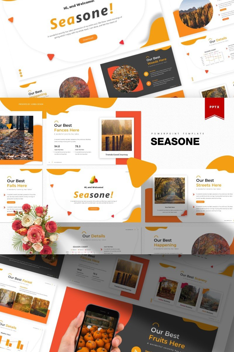 "Template PowerPoint #84901 ""Seasone 