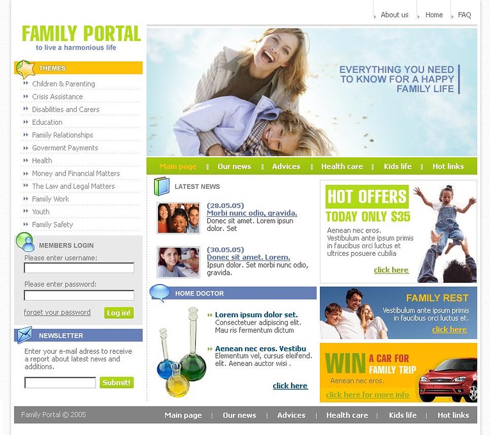 Happiness Website Templates by Daniel C. Adams