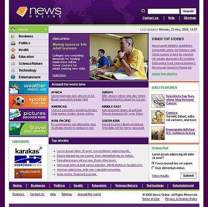 CSS-шаблон для сайта (8574)
