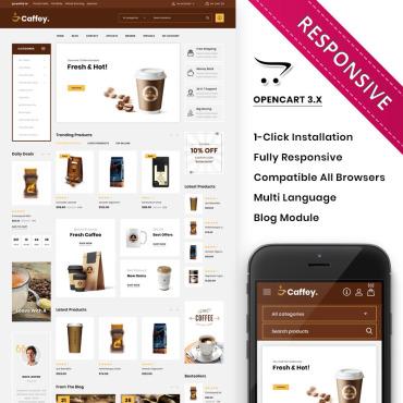 Купить  пофессиональные OpenCart шаблоны. Купить шаблон #85052 и создать сайт.