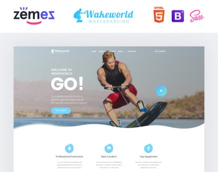 Wakeworld - Surfing Multipage Creative HTML Website Template