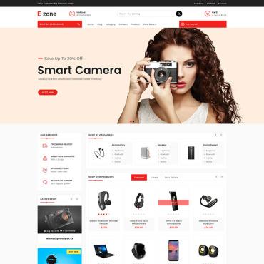 Купить  пофессиональные Shopify шаблоны. Купить шаблон #85054 и создать сайт.