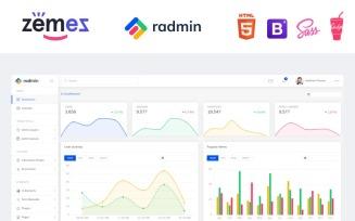 Radmin - Multifunctional Clean Dashboard