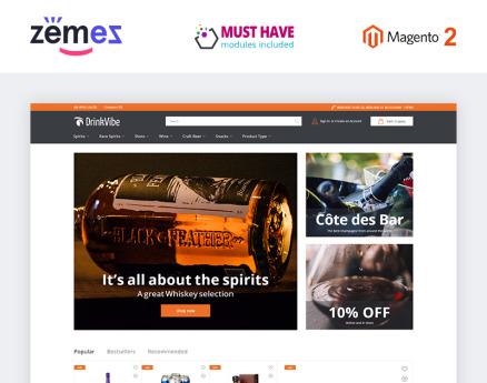 DrinkVibe - Liquor Store Ready-to-Use Clean Magento Theme