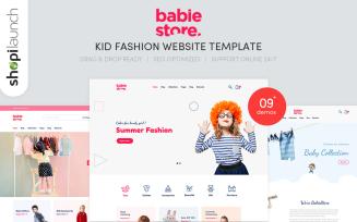 Babie Store - Kid Fashion Website Template