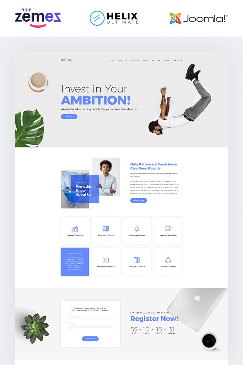 Edukt - Education Multipage Creative Template Joomla №85003 - captura de tela