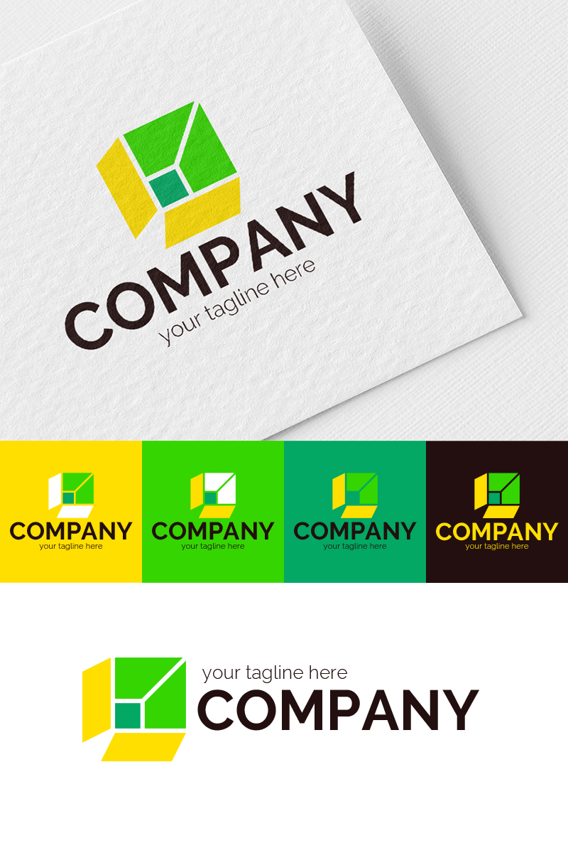 Fast Shipping in Box Logo Template