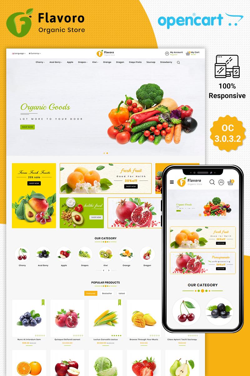 """Flavoro Organic"" 响应式OpenCart模板 #85085"