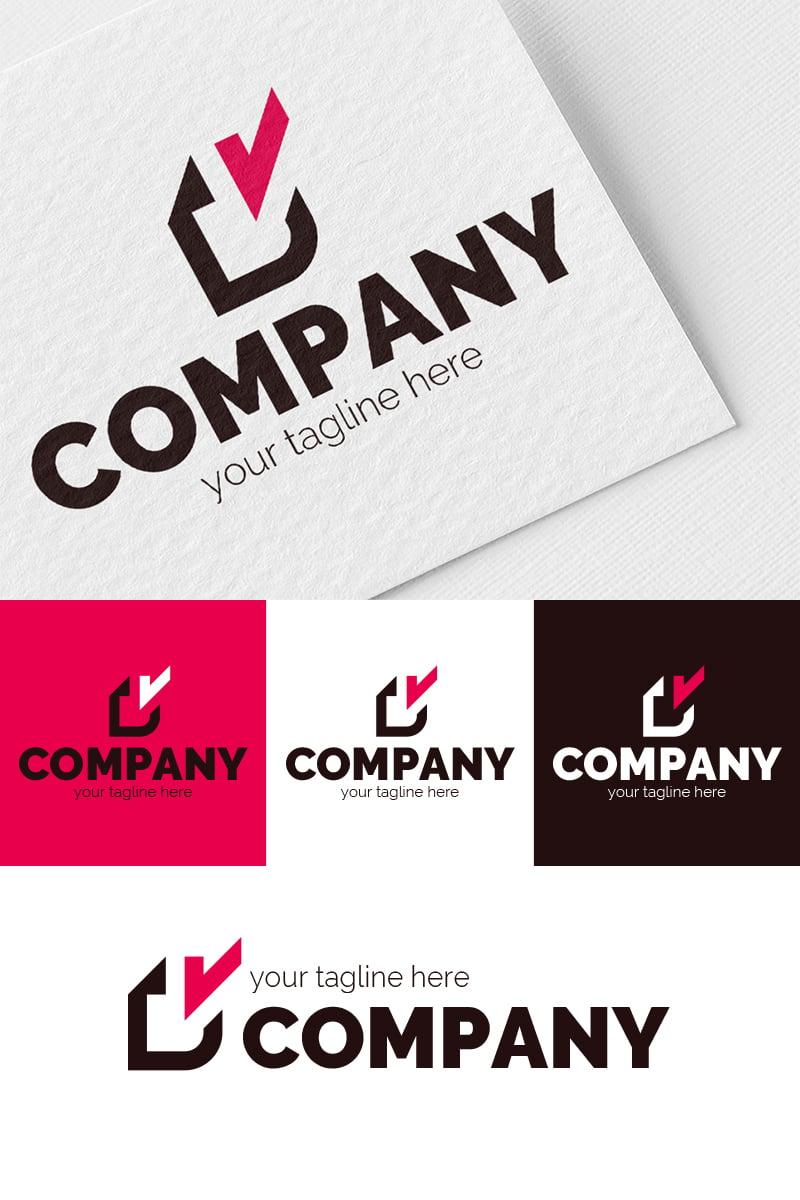 Letter V + Paper Logo Template