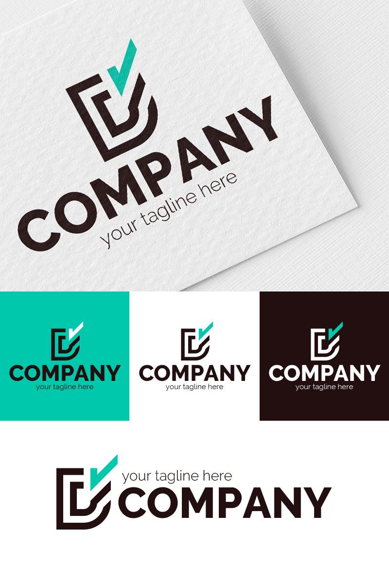 Letters D + V Logo Template