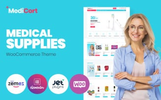 MediCort - Medical ECommerce Classic Elementor WooCommerce Theme