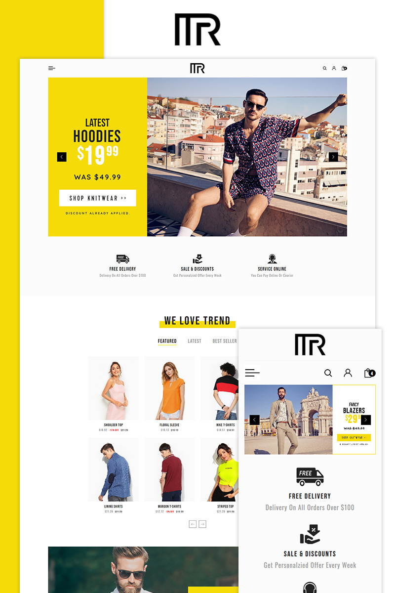 Mr. Fashion Store PrestaShop-tema #85080
