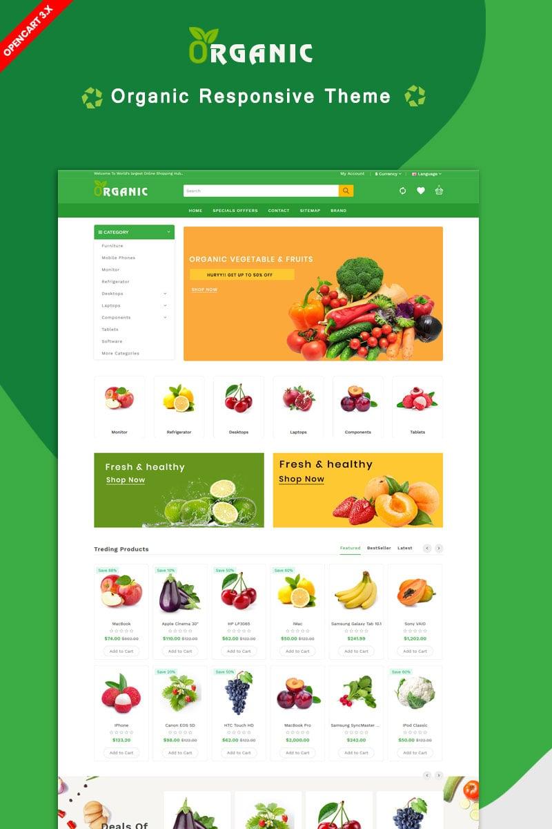 """Organic Fruit & Farm Natural Theme"" 响应式OpenCart模板 #85090"