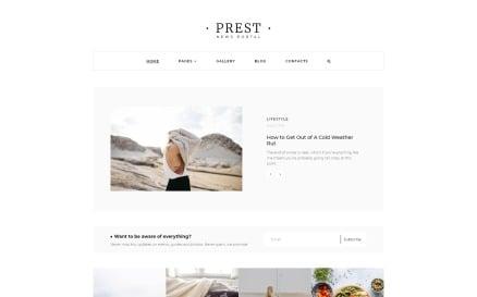 Prest - News Portal Multipage Creative Joomla Template